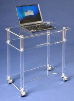 Acryl glass laptop desk
