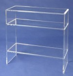 Acryl glass shelf / console table