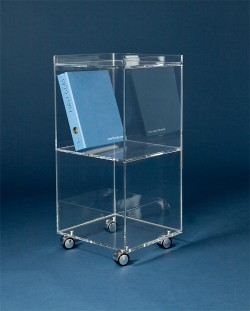 Acryl glass folder trolley
