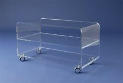 Acryl glass trolley