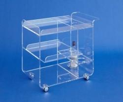 Acrylglas-Servierwagen