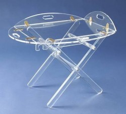 Acryl glass butler side table