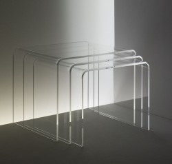 Acryl glass nest of tables