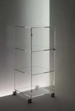Acryl glass trolley with door