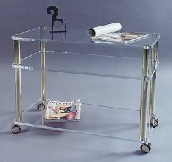 Acryl glass trolley