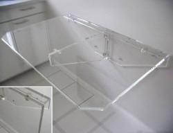 Acryl glass folding dining table
