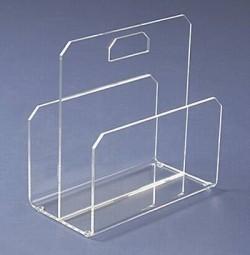 Acryl glass newspaper rack