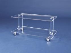 Acryl glass trolley / TV unit