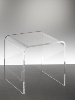 Acryl glass side table or stool