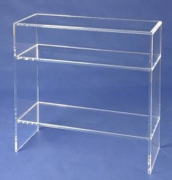 Acryl glass shelf / console table