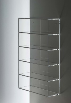 Acryl glass CD shelf unit