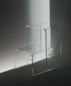 Acryl glass stepladder