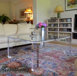 Acryl glass coffee table